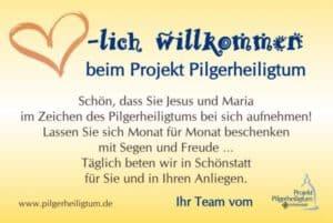 Informationen und Material zum Projekt Pilgerheiligtum